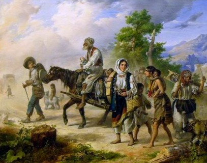 Miklós Barabás: Travelling Gypsy Family in Transylvania, 1843 (Magyar Külkereskedelmi Bank Zrt., deposited at the Hungarian National Gallery)