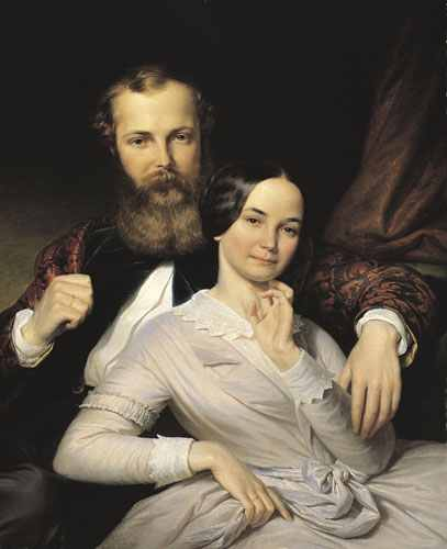 Henrik Weber: The Composer Mihály Mosonyi and His Wife, 1840s (Hungarian National Gallery)